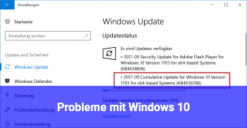 Probleme mit Windows 10