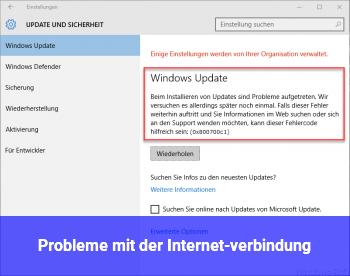 Probleme mit der Internet-verbindung