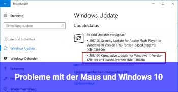Probleme mit der Maus und Windows 10