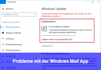 Probleme mit der Windows Mail App