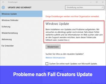 Probleme nach Fall Creators Update