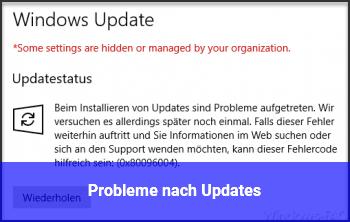 Probleme nach Updates