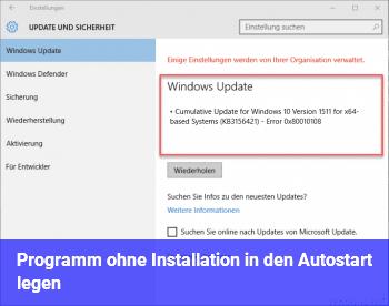 Programm ohne Installation in den Autostart legen?