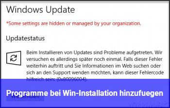 Programme bei Win-Installation hinzufügen?
