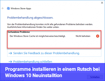 "Programme installieren ""in einem Rutsch"" bei Windows 10 Neuinstalltion"