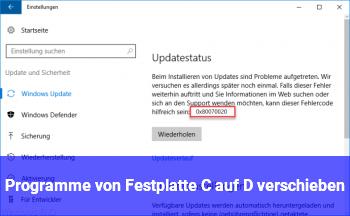 Programme von Festplatte C auf D verschieben?