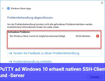 PuTTY adé: Windows 10 erhält nativen SSH-Client und -Server
