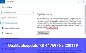 """Qualitätsupdate"" KB 4476976 v. 23.01.19"