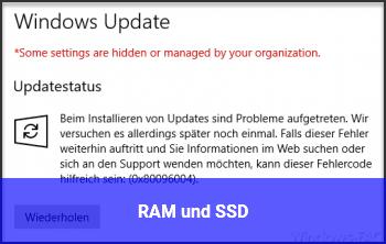 RAM und SSD ?