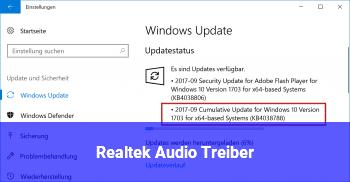Realtek Audio Treiber