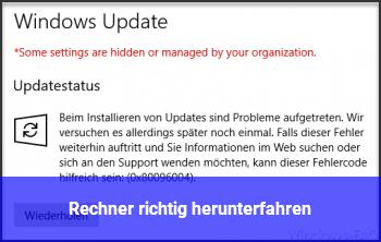 Windows 10 Richtig Herunterfahren