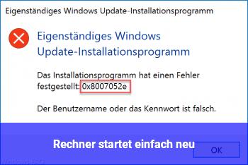 Rechner startet einfach neu