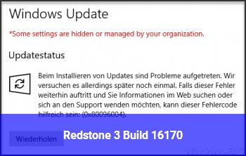 Redstone 3 Build 16170
