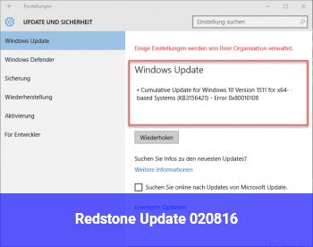 Redstone Update 02.08.16