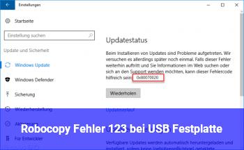 Robocopy Fehler 123 bei USB Festplatte