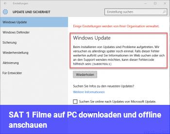 SAT 1 Filme auf PC downloaden und offline anschauen