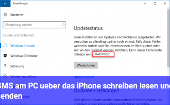 SMS am PC über das iPhone schreiben, lesen und senden
