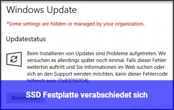 SSD Festplatte verabschiedet sich?