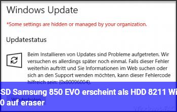 SSD (Samsung 850 EVO) erscheint als HDD – Win 10 auf eraser