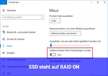 SSD steht auf RAID ON