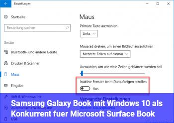 Samsung Galaxy Book mit Windows 10 als Konkurrent für Microsoft Surface Book?