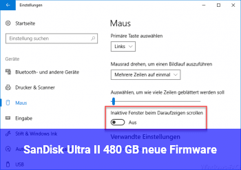SanDisk Ultra II 480 GB neue Firmware