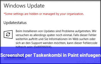 Screenshot per Taskenkombi in Paint einfügen