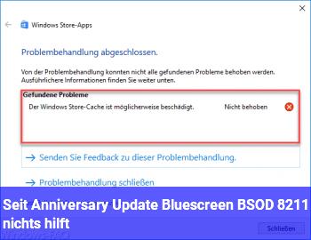 Seit Anniversary Update Bluescreen BSOD – nichts hilft