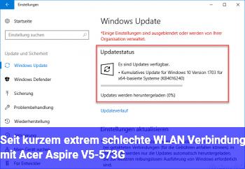 Seit kurzem extrem schlechte WLAN Verbindung mit Acer Aspire V5-573G
