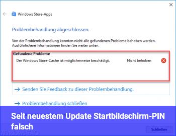 Seit neuestem Update: Startbildschirm-PIN falsch