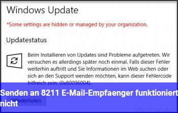 Senden an – E-Mail-Empfänger funktioniert nicht