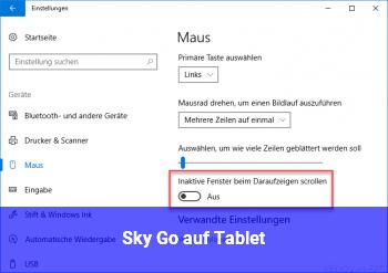 Sky Go auf Tablet
