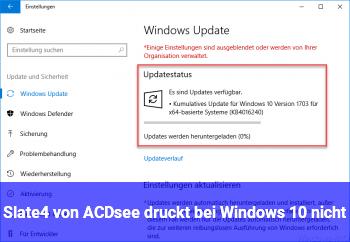 Slate4 von ACDsee druckt bei Windows 10 nicht