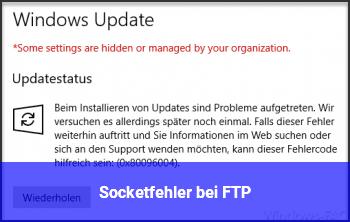Socketfehler bei FTP