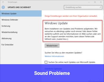 Sound Probleme