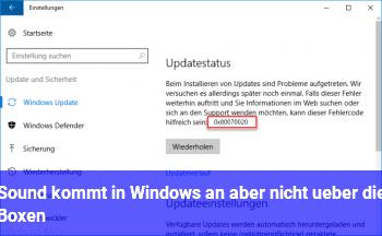 Sound kommt in Windows an aber nicht über die Boxen