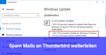 Spam Mails an Thunderbird weiterleiten