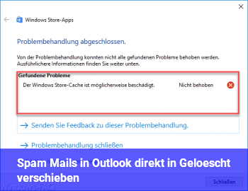 Spam Mails in Outlook direkt in Gelöscht verschieben