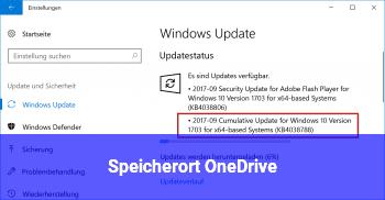 Speicherort OneDrive