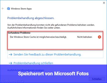 Speicherort von Microsoft Fotos