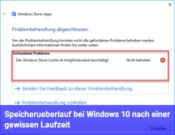 Speicherüberlauf bei Windows 10 nach einer gewissen Laufzeit
