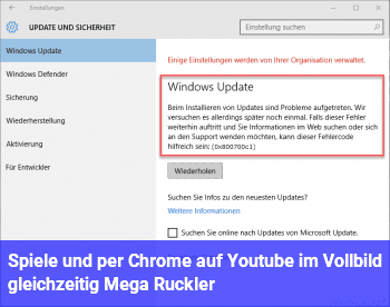 Spiele und per Chrome auf Youtube im Vollbild gleichzeitig = Mega Ruckler