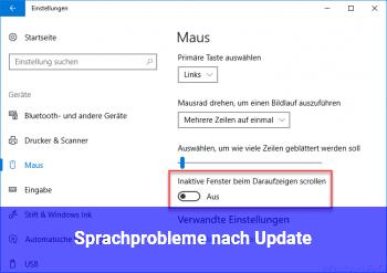 Sprachprobleme nach Update