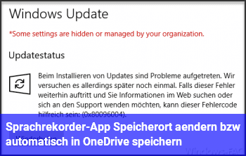 Sprachrekorder-App: Speicherort ändern bzw. automatisch in OneDrive speichern?
