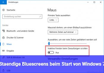 Ständige Bluescreens beim Start von Windows 7