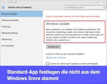 Standard-App festlegen, die nicht aus dem Windows Srore stammt