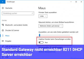 Standard Gateway nicht erreichbar – DHCP Server erreichbar