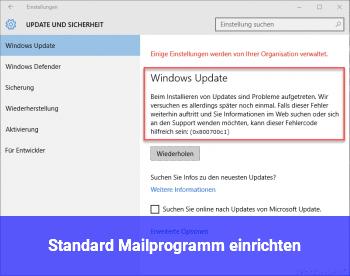 Standard Mailprogramm einrichten