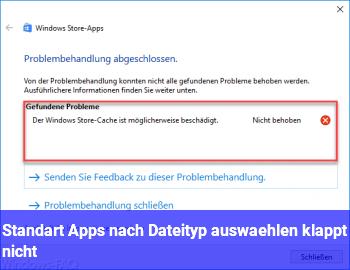 Standart Apps nach Dateityp auswählen klappt nicht