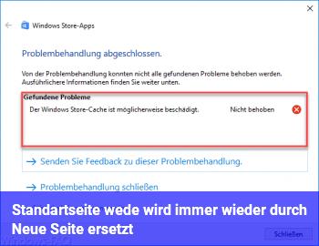 Standartseite we.de wird immer wieder durch Neue Seite ersetzt!